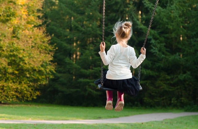 A child playing alone
